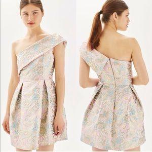 NEW // Topshop One Shoulder Jacquard Dress